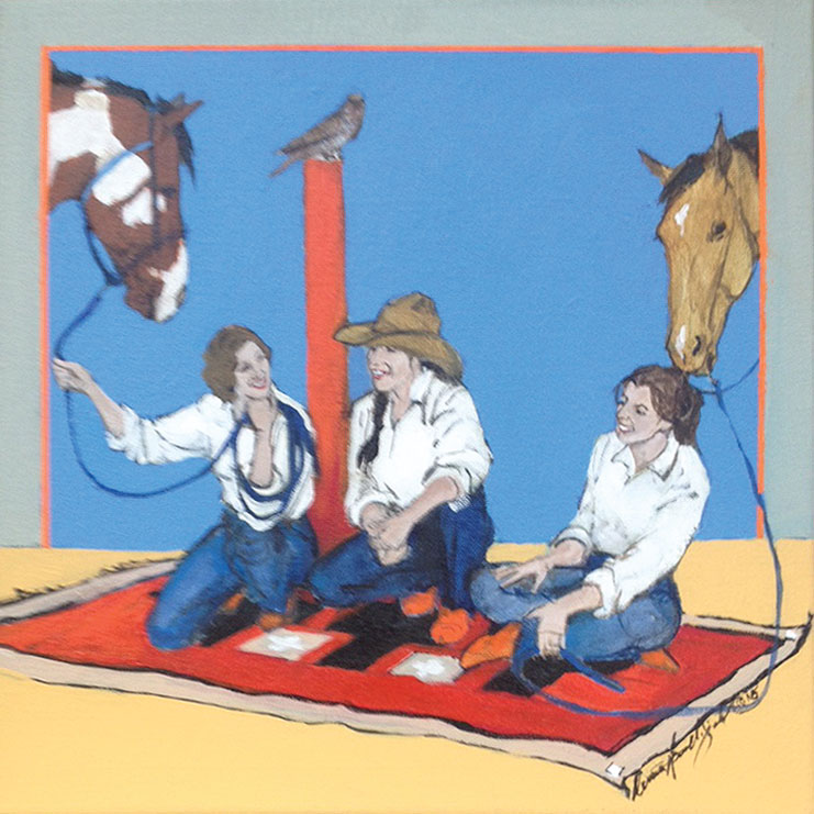 And then He Said painting by artist Donna Howell-Sickles