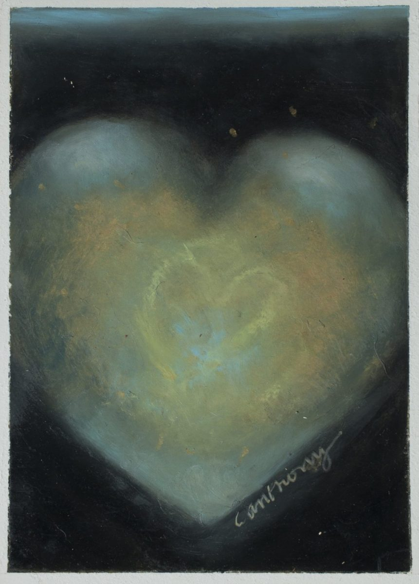 Blue Heart painting by artist Carol Anthony