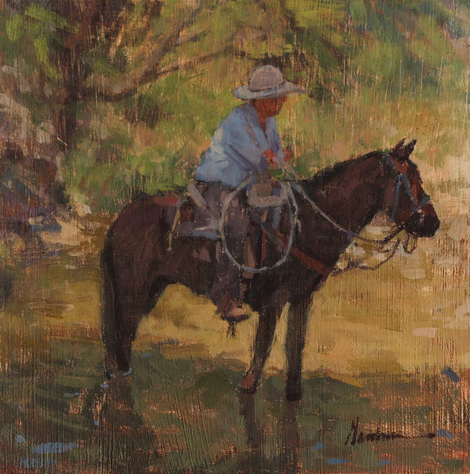 Cooling off painting by artist frank gardner