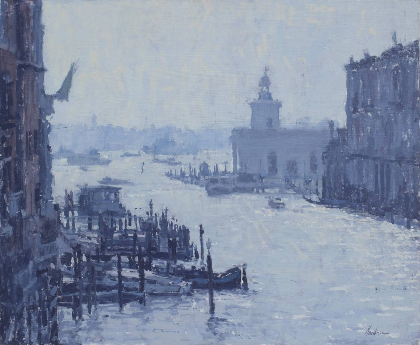 Grand Canal, Venice scene landscape painting by artist Frank Gardner