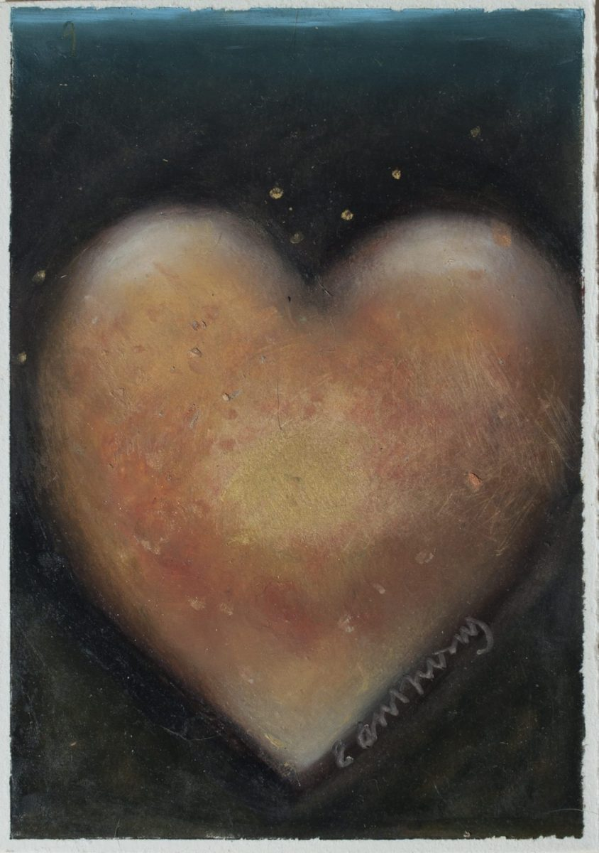 Happy Valentine's Day painting of a heart by artist Carol Anthony