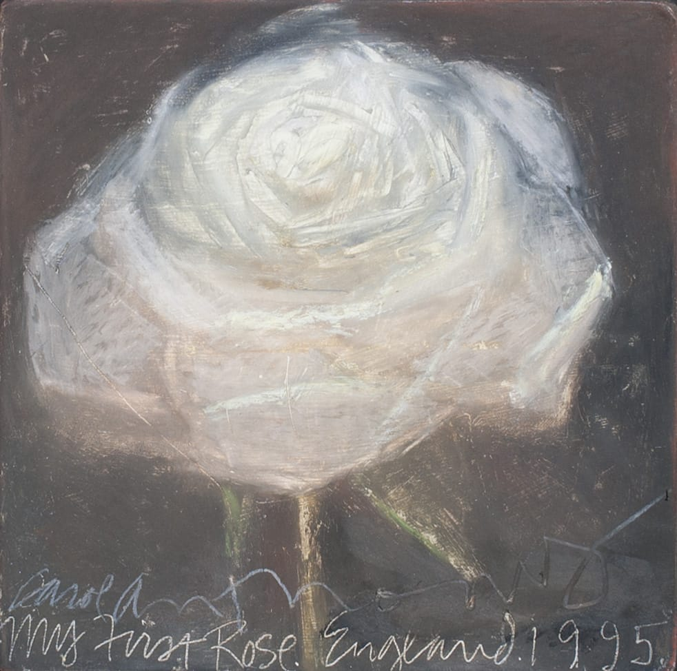 My First Rose. England. 1995 by artist Carol Anthony