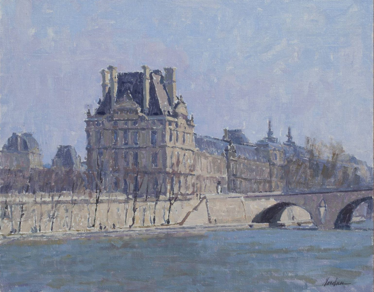The Louvre painting by Frank Gardner