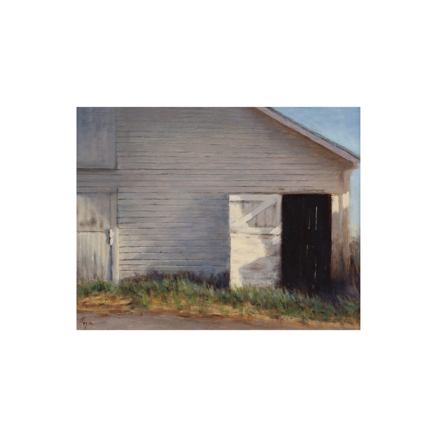 barn painting by artist Peter Hagen