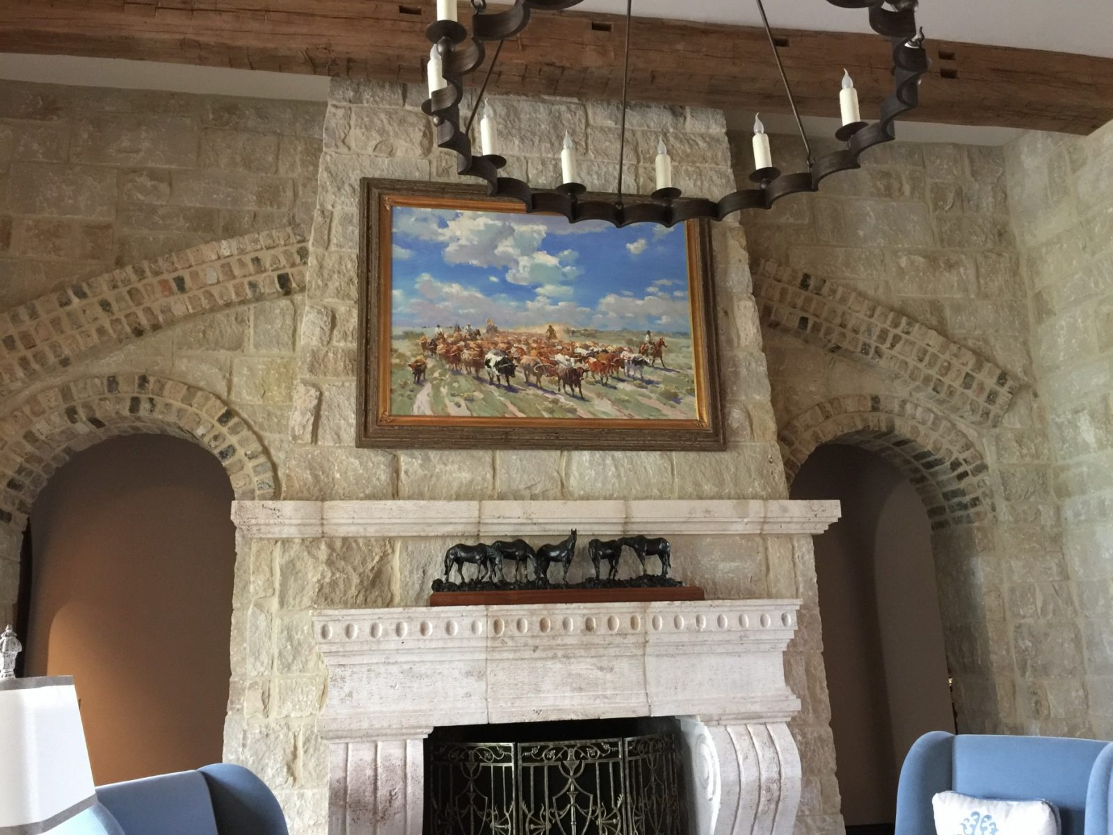 Xiang Zhang painting hanging over mantle