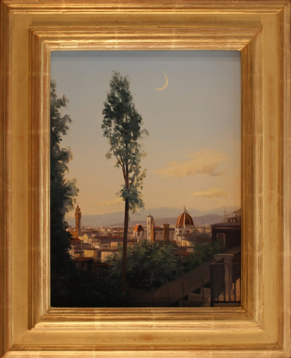 Florence at Evening, 14.5 x 11 panel, 19.5 x 16 frame, #1048 ...
