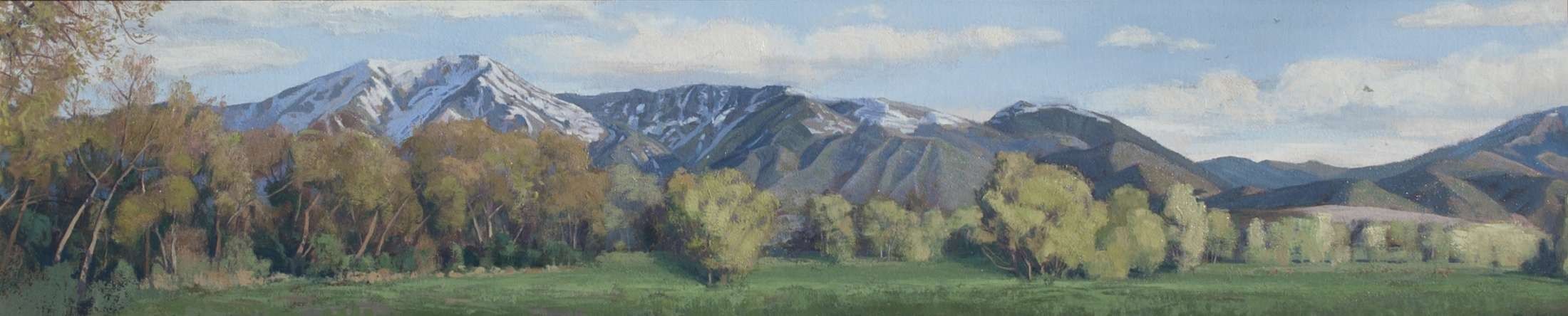 Mountain Range painting of Payson Utah by artist Brad Aldridge