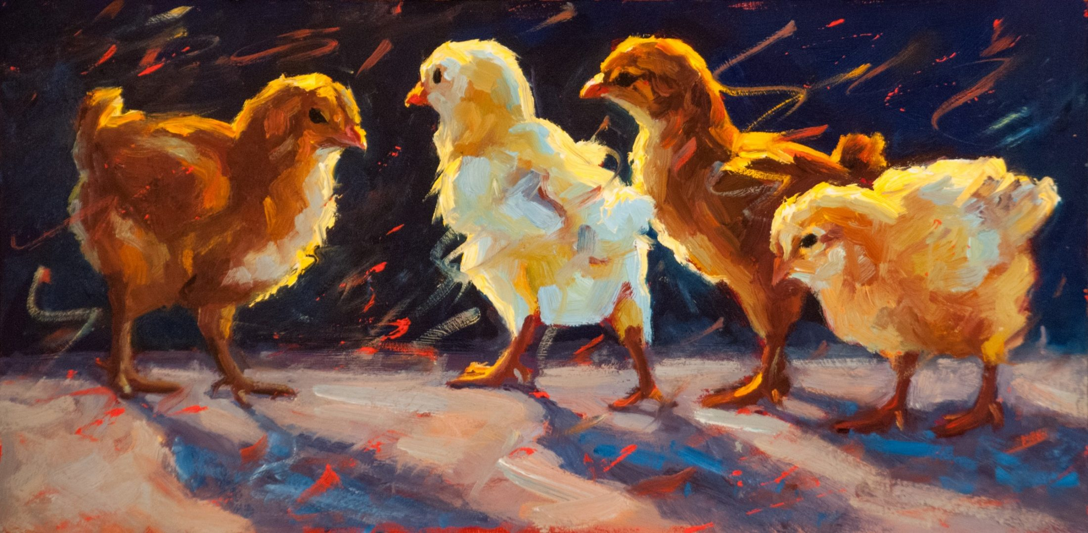 Party Girls chick painting by Cheri Christensen