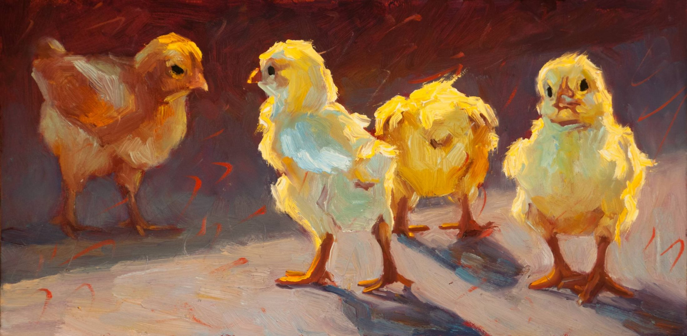 scattered chicks by Cheri Christensen