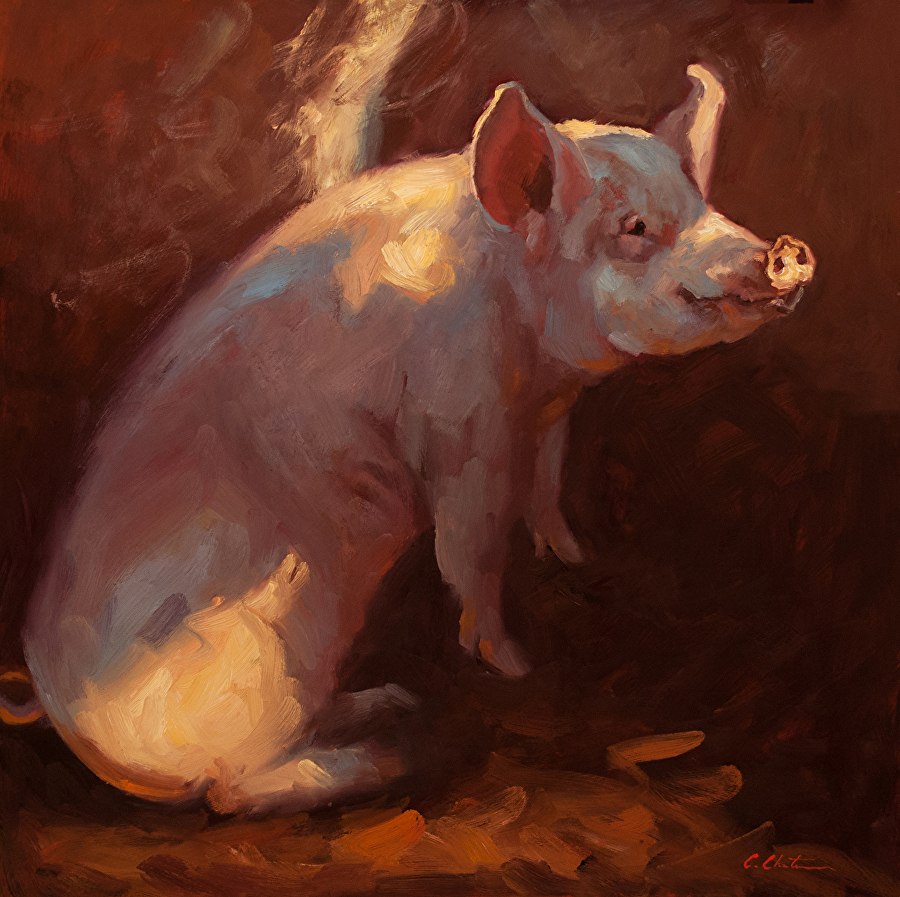 Some Pig painting by Cheri Christensen