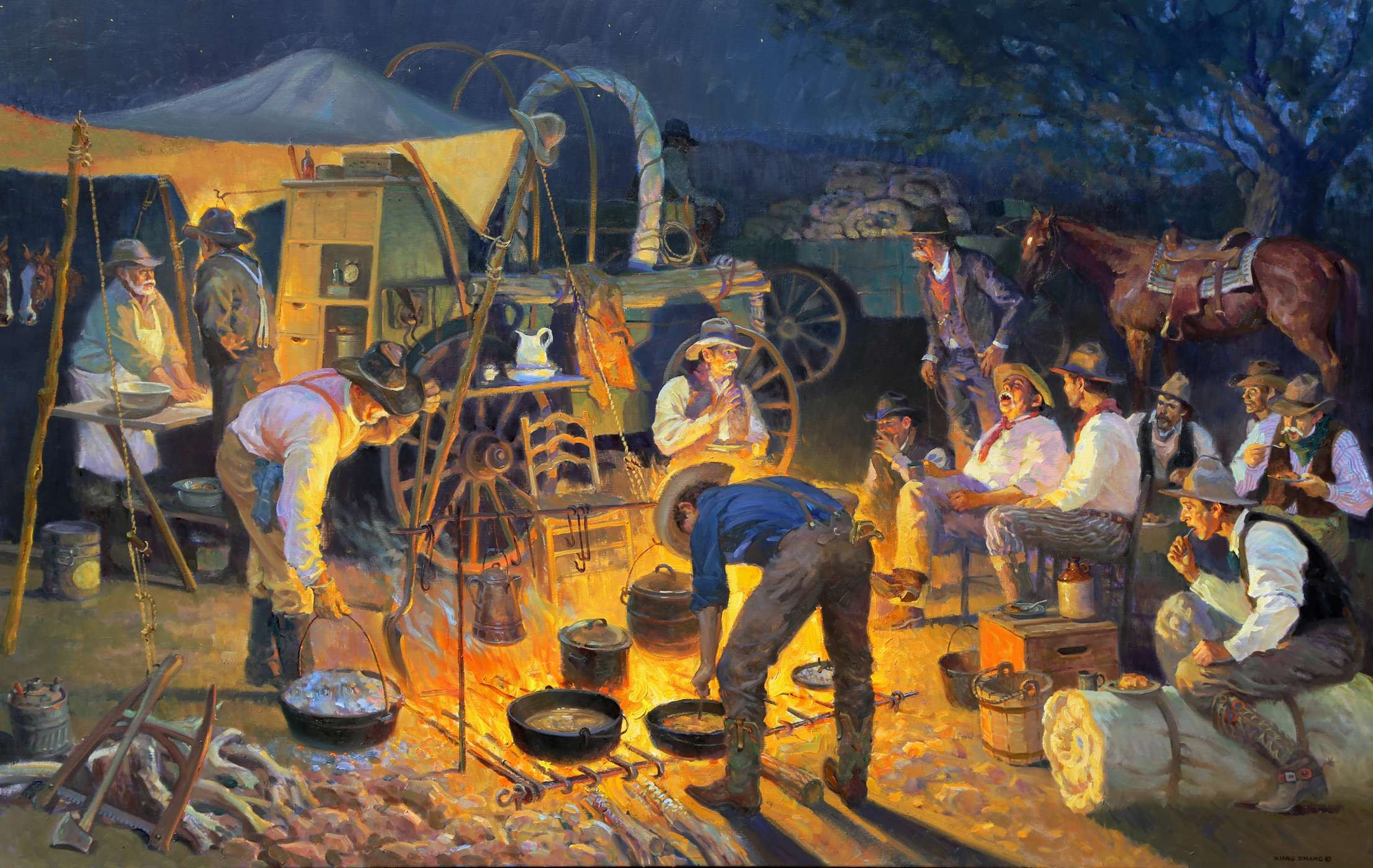 Western Oil Paintings by Xiang Zhang
