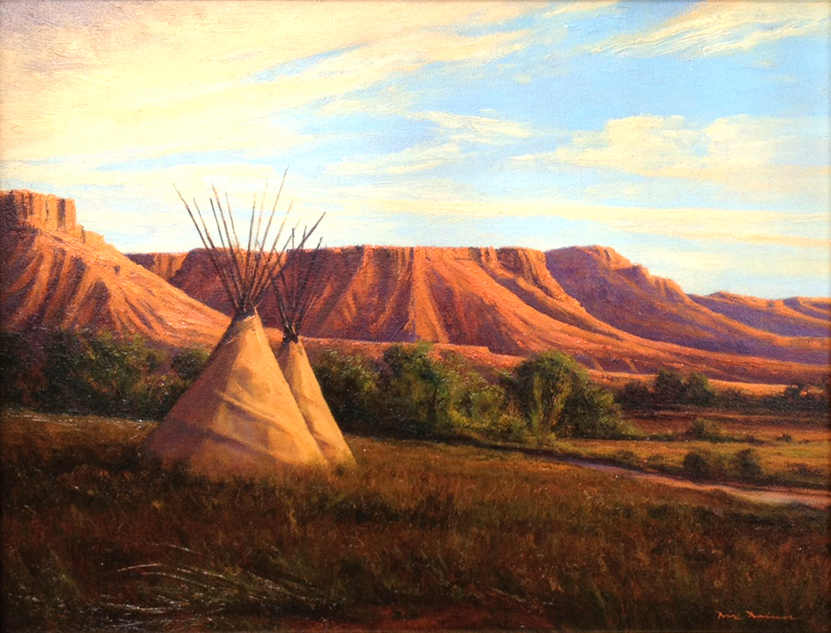 Dix Baines Oil Landscape Painting of the American Southwest