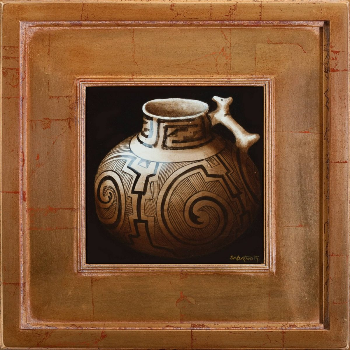 Anasazi Pitcher painting by Chuck Sabatino