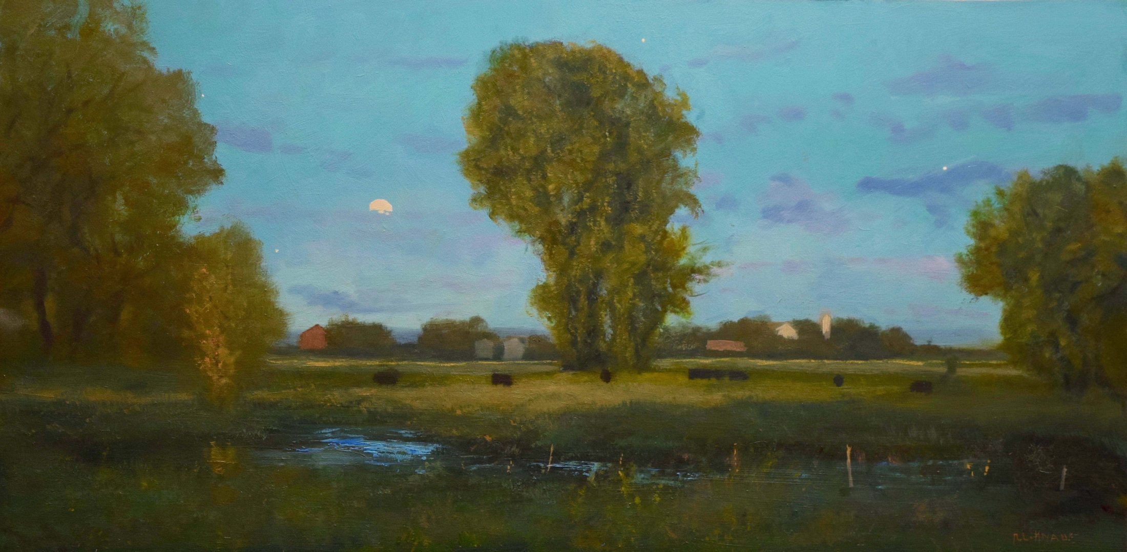oil landscape painting by Raymond Knaub