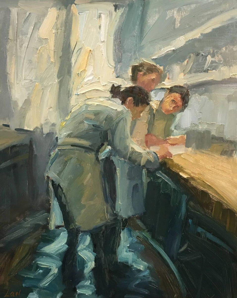 Collaboration, Boulettes Larder painting by artist Lael Weyenberg