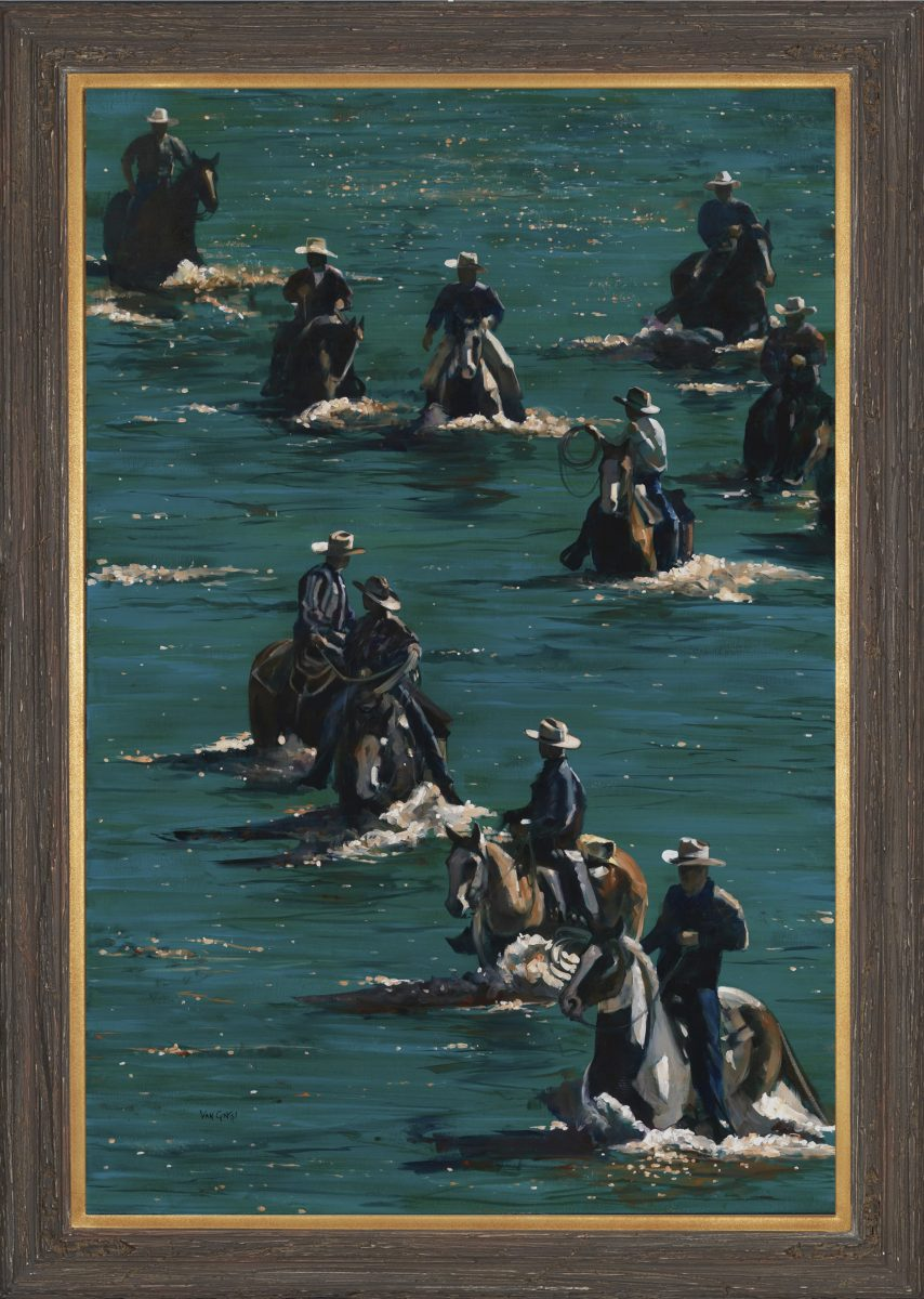 Cowboy Regatta painting by Paul Van Ginkel