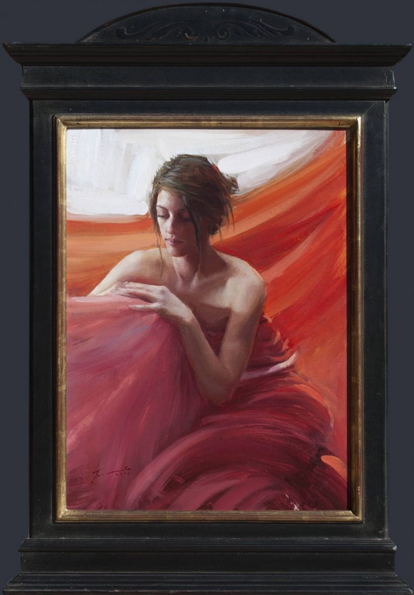Day Dream female portrait painting by Tim Rees
