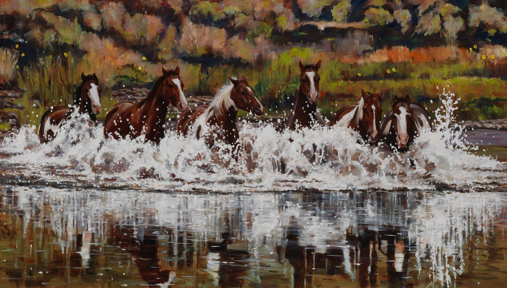 Explosive Horsepower painting by Paul Van Ginkel