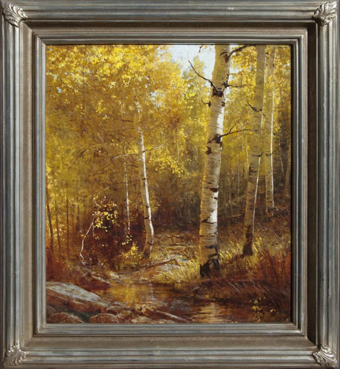 Autumn Aspen Painting by Phill Nethercott