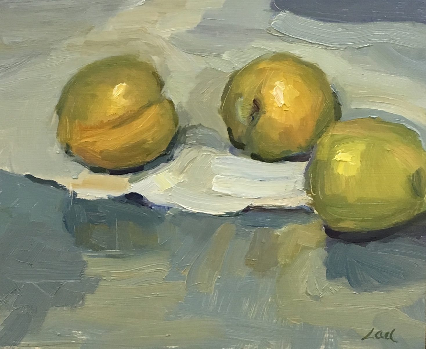 Golden Plums painting by Lael Weyenberg