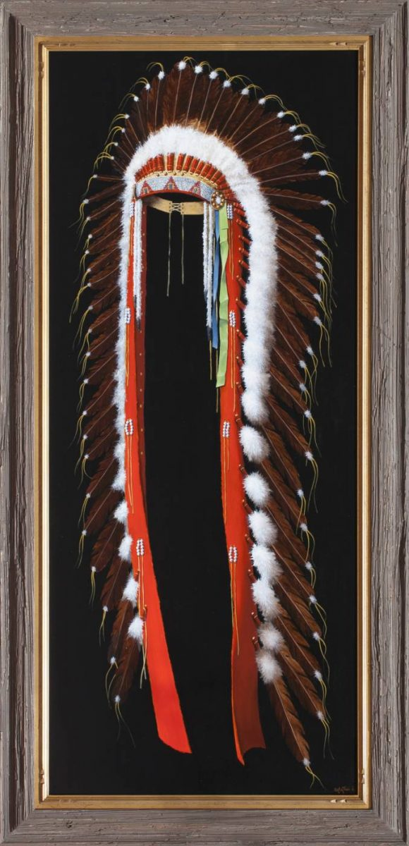 Lakota Sioux Headdress by Chuck Sabatino