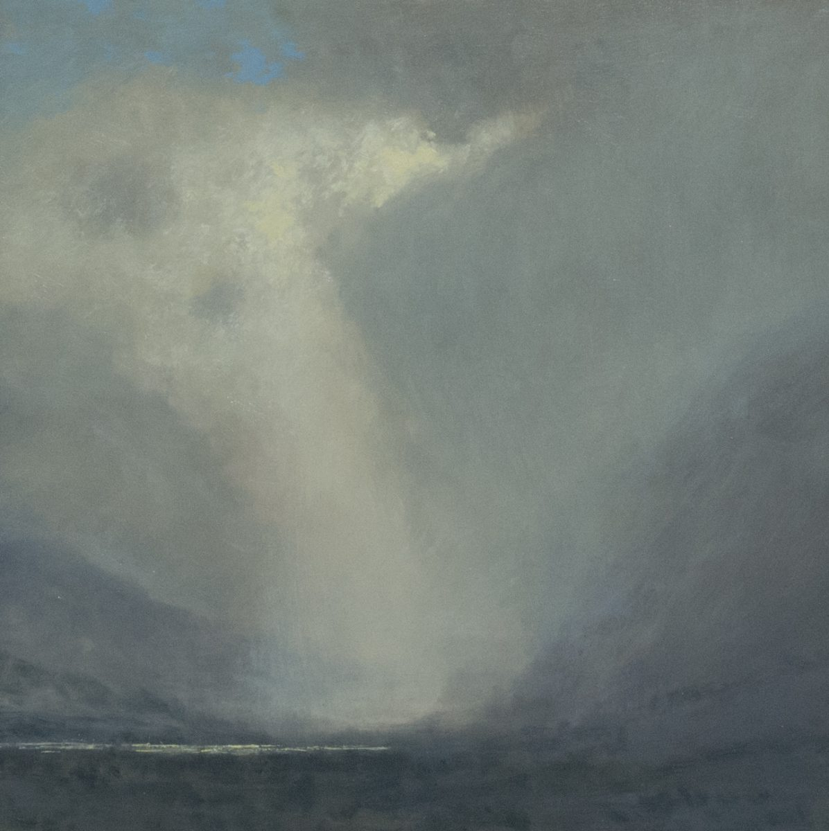 Mountain Rainshower painting by Raymond Knaub