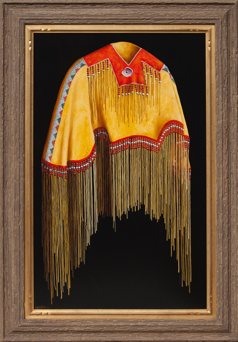 Beaded Cape painting by Chuck Sabatino