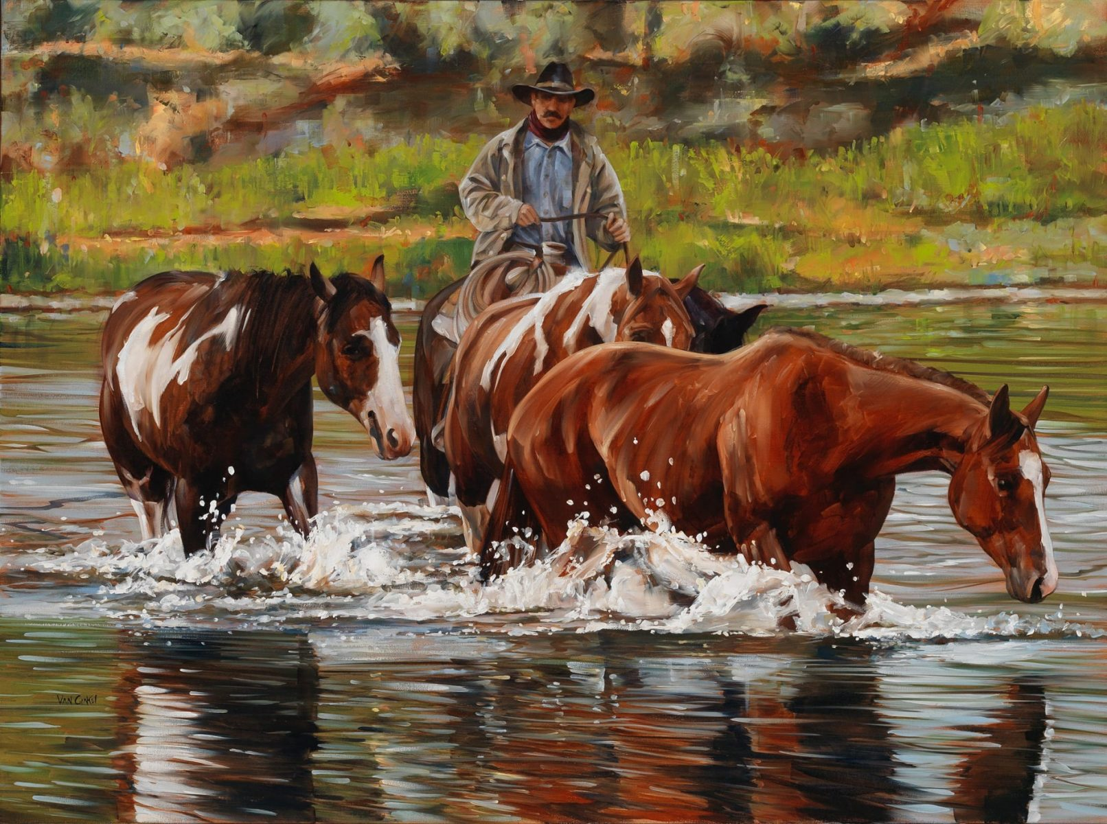 Riding the Current by artist Paul Van Ginkel