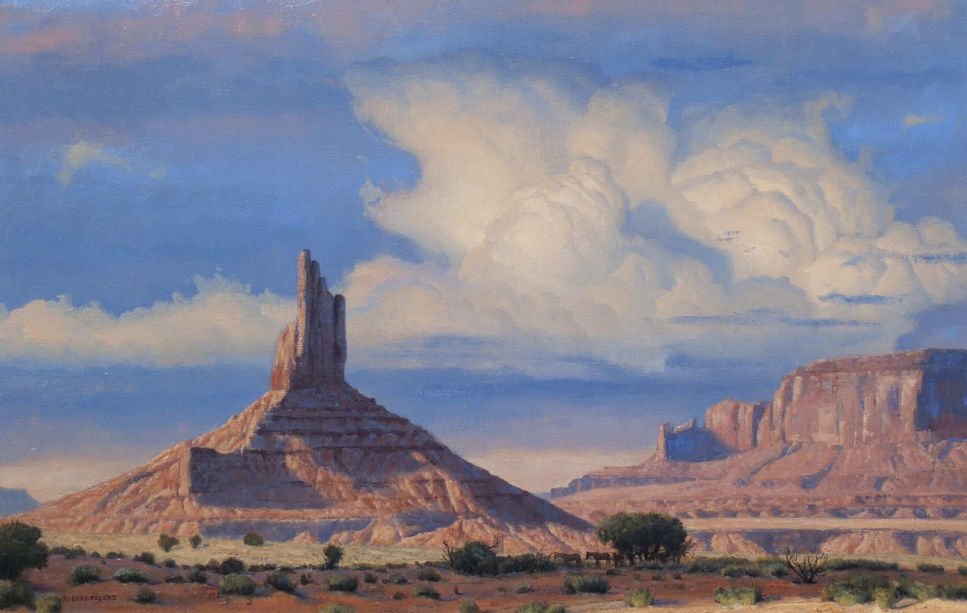 September Sky Monument Valley painting by Robert Peters
