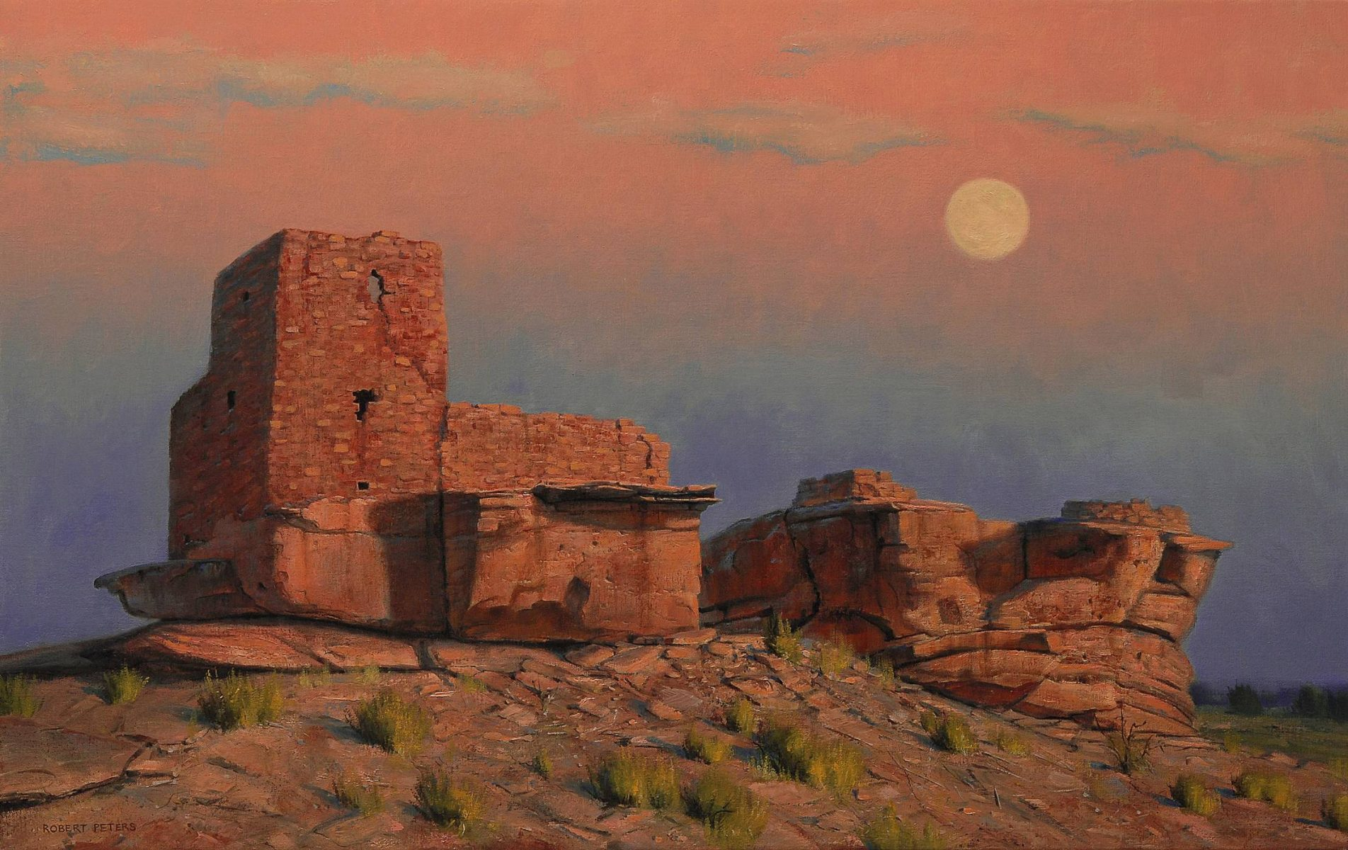 Sinagua Moon by Robert Peters