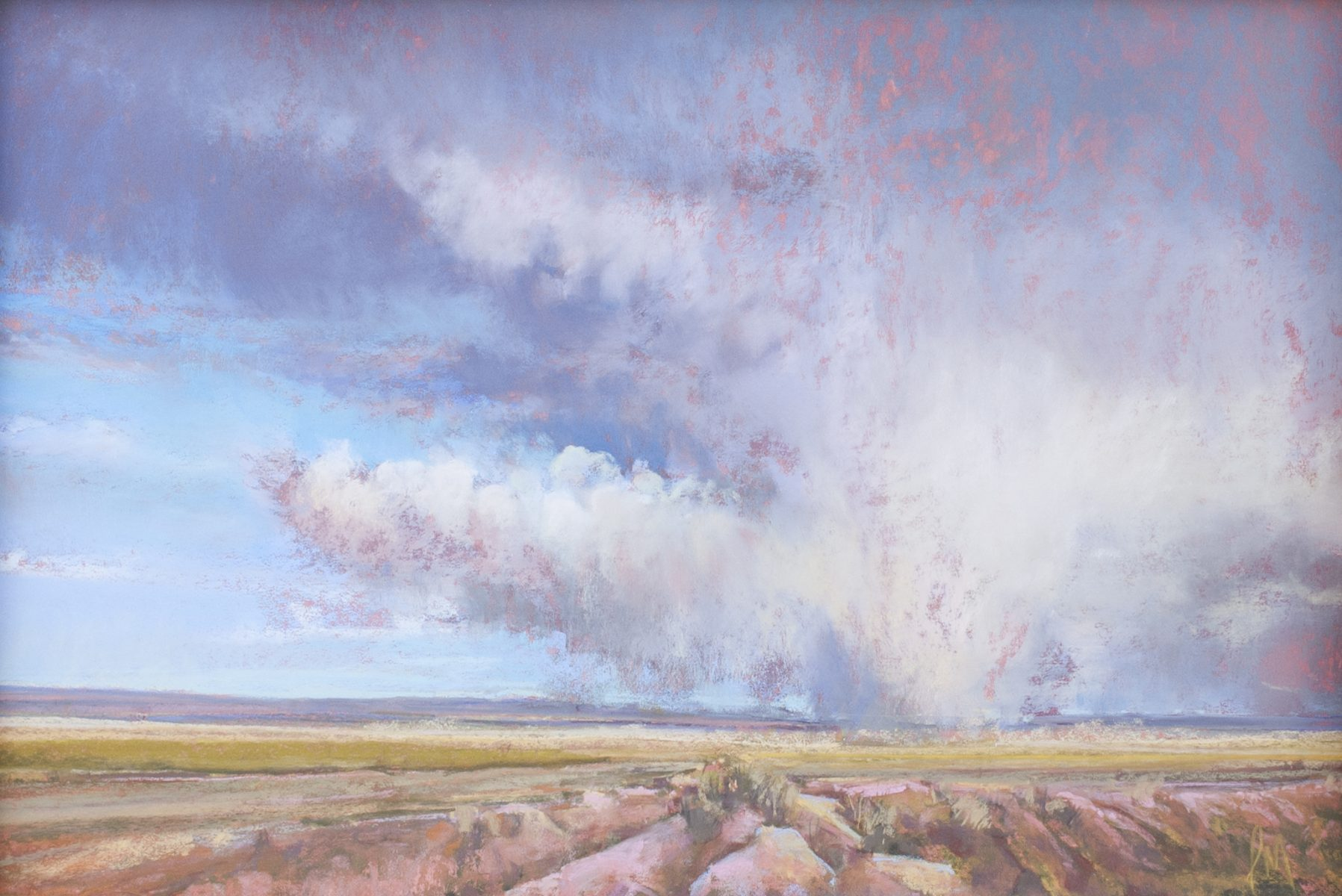 Study for Lea Country Dust Storm by Iva Morris