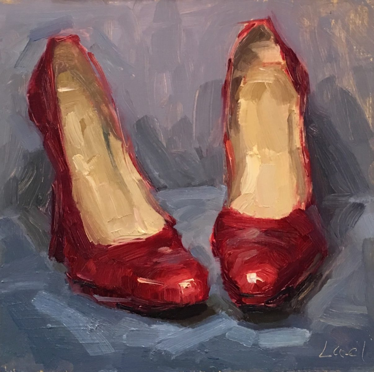 Toe to Toe painting by Lael Weyenberg