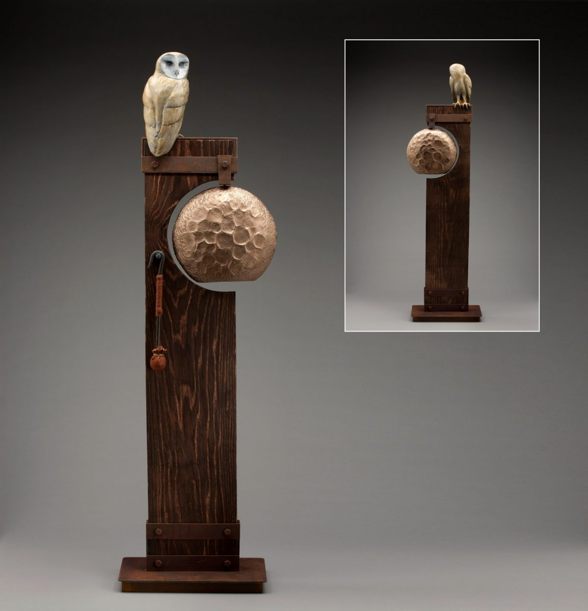 Wisdom Knocks bell with owl by JG Moore