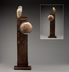 Wisdom Knocks bell with owl by J.G. Moore