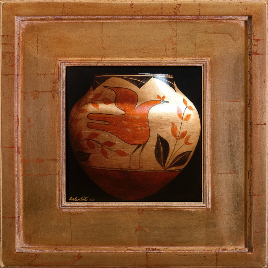 Native American Pottery Painting still life by Chuck Sabatino