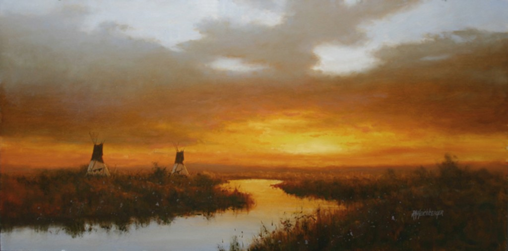 landscape oil painting by artist Dick Heichberger