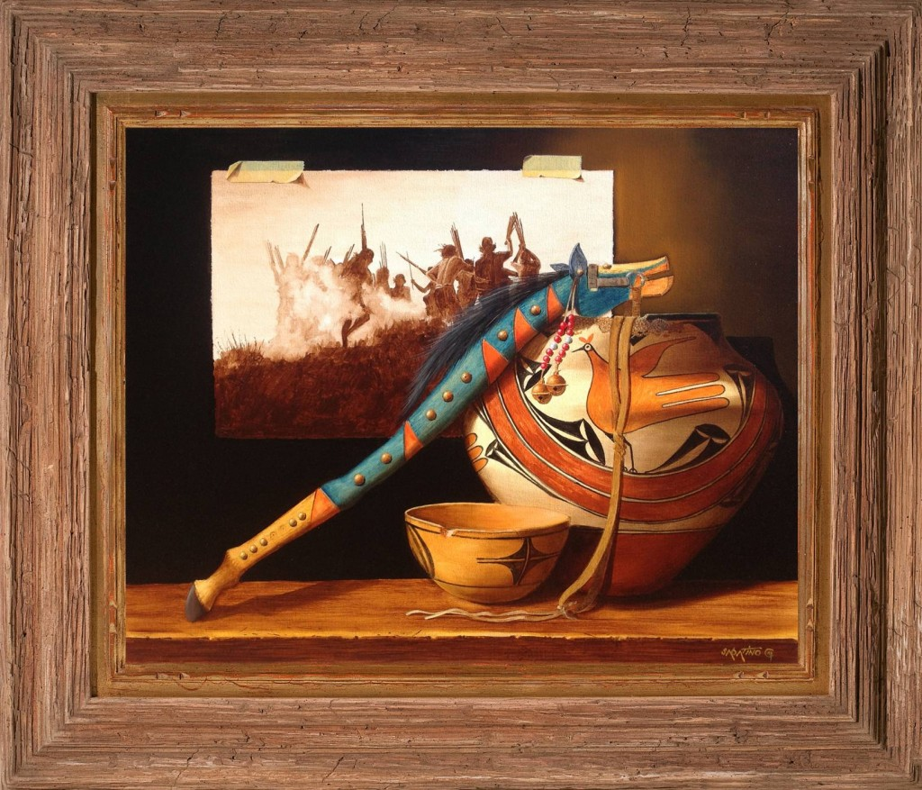 Native American Still Life Painting by Chuck Sabatino