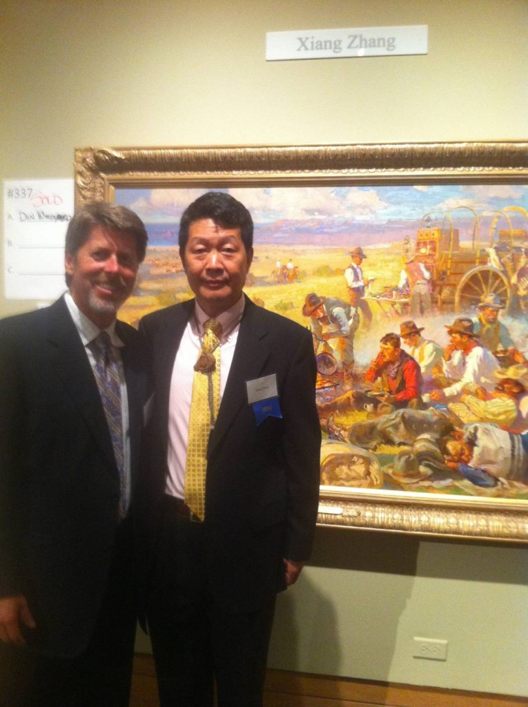 Xiang Zhang and Tim Cherry at the Prix de West
