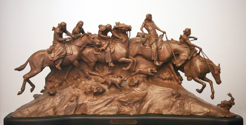 Native American bronze sculpture by Muscogee artist Paul Moore