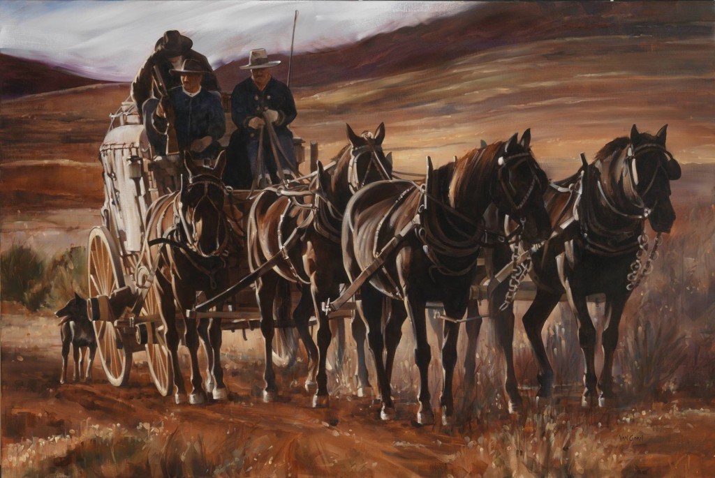 Paul Van Ginkel cowboy artist oil painting