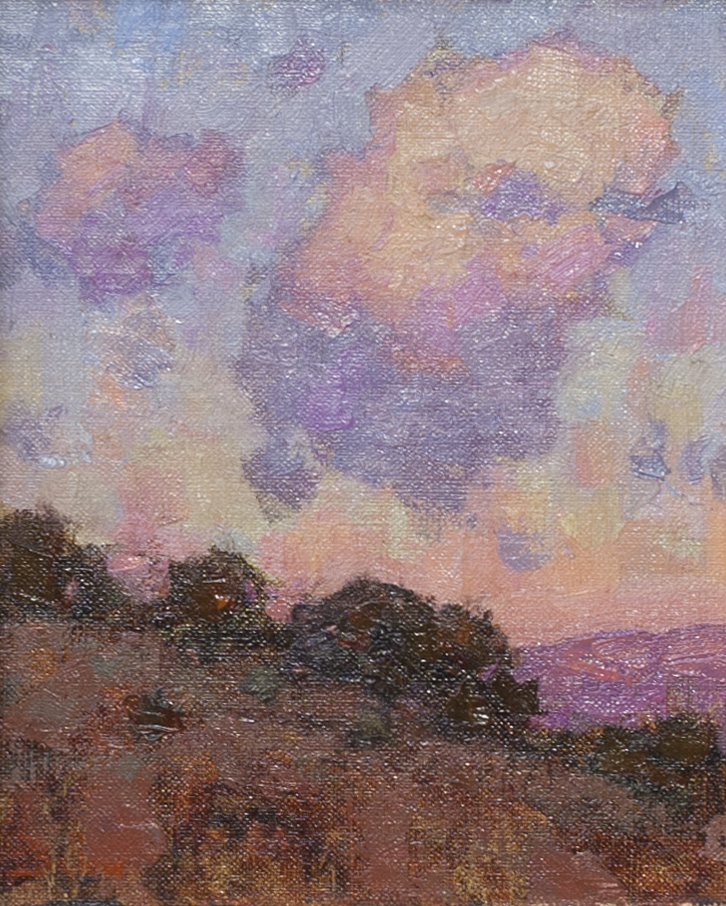Santa Fe landscape painting by David Ballew