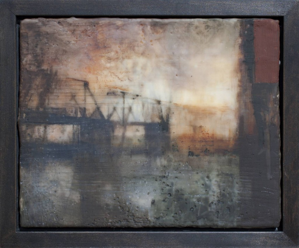 encaustic painting by Charlie Hunter