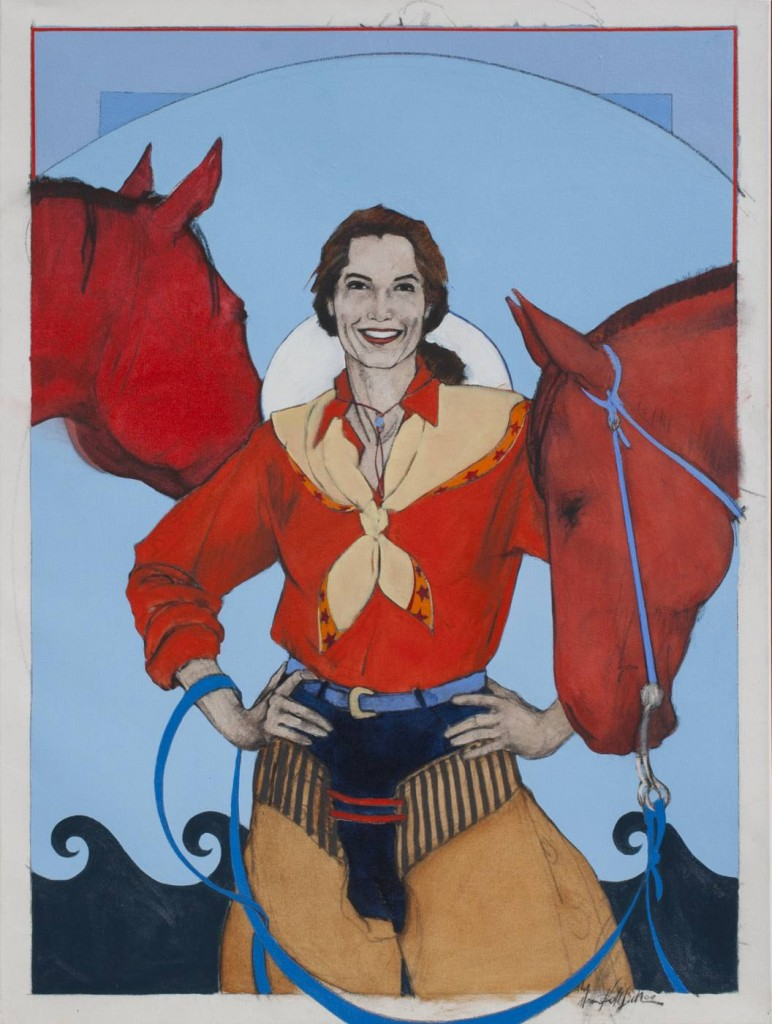 cowgirl painting by Donna Howell-Sickles