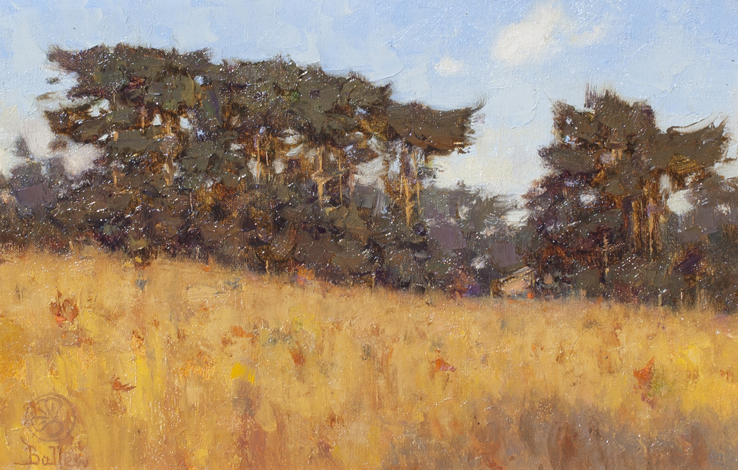 landscape painting by David Ballew