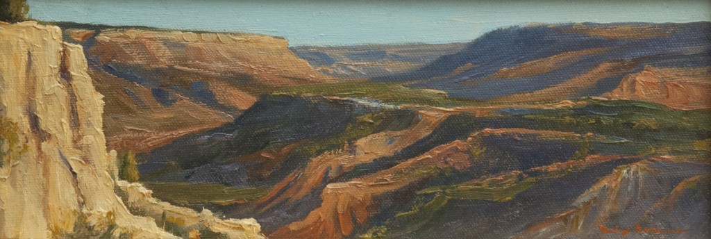 Lanscape oil painting by artist Dix Baines
