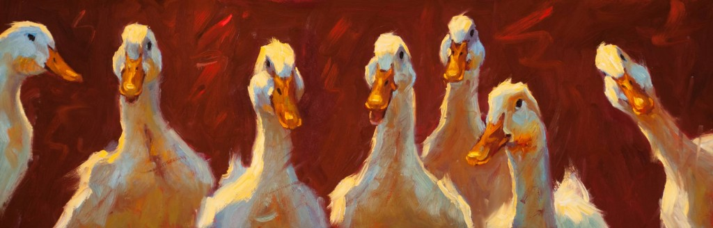 ducks painting by Cheri Christensen