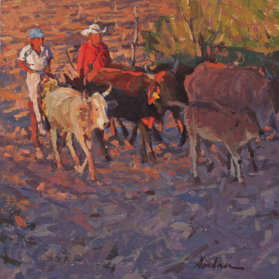 Mexican landscape painting by American artist Frank Gardner