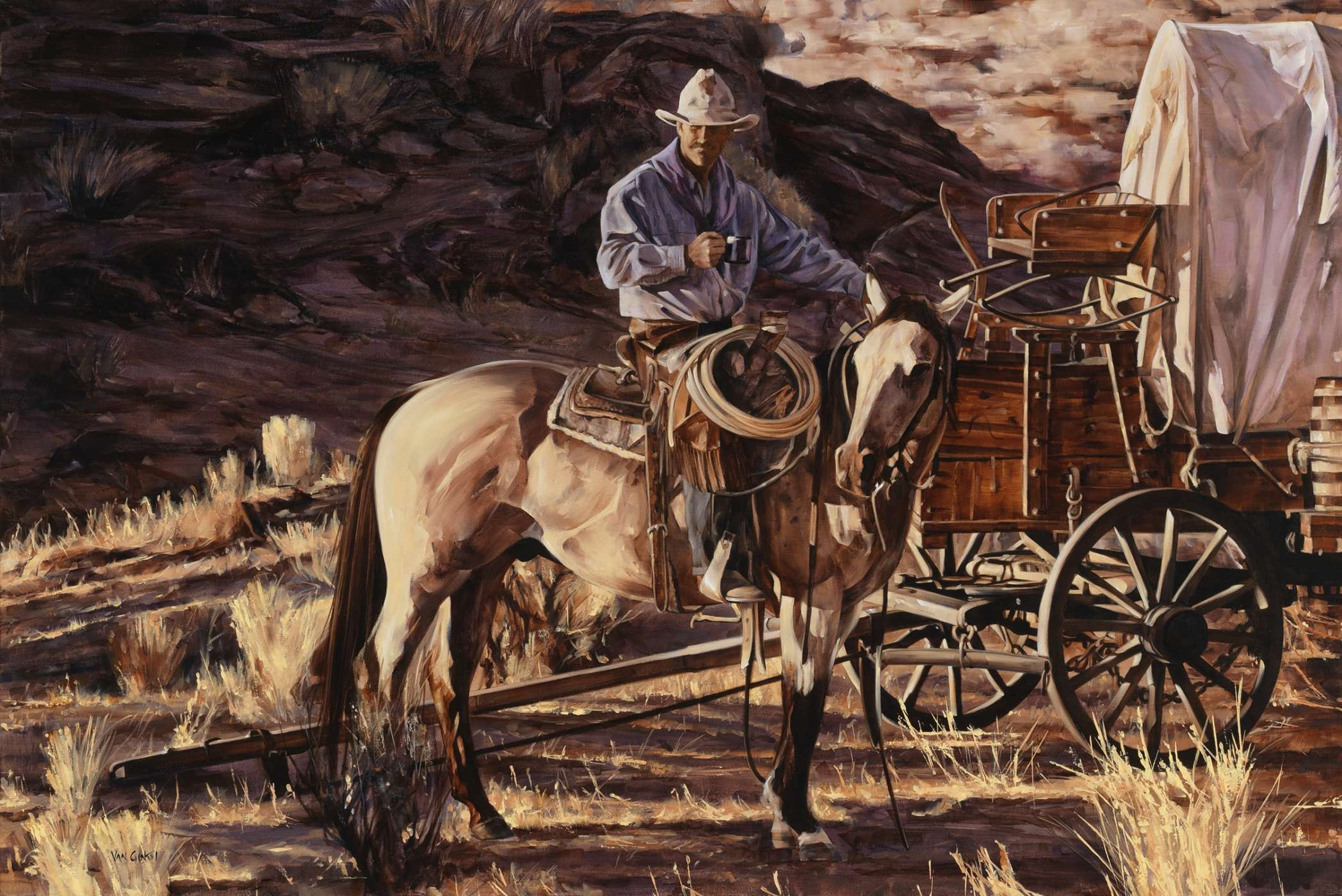 painting by Calgary artist Paul Van Ginkel