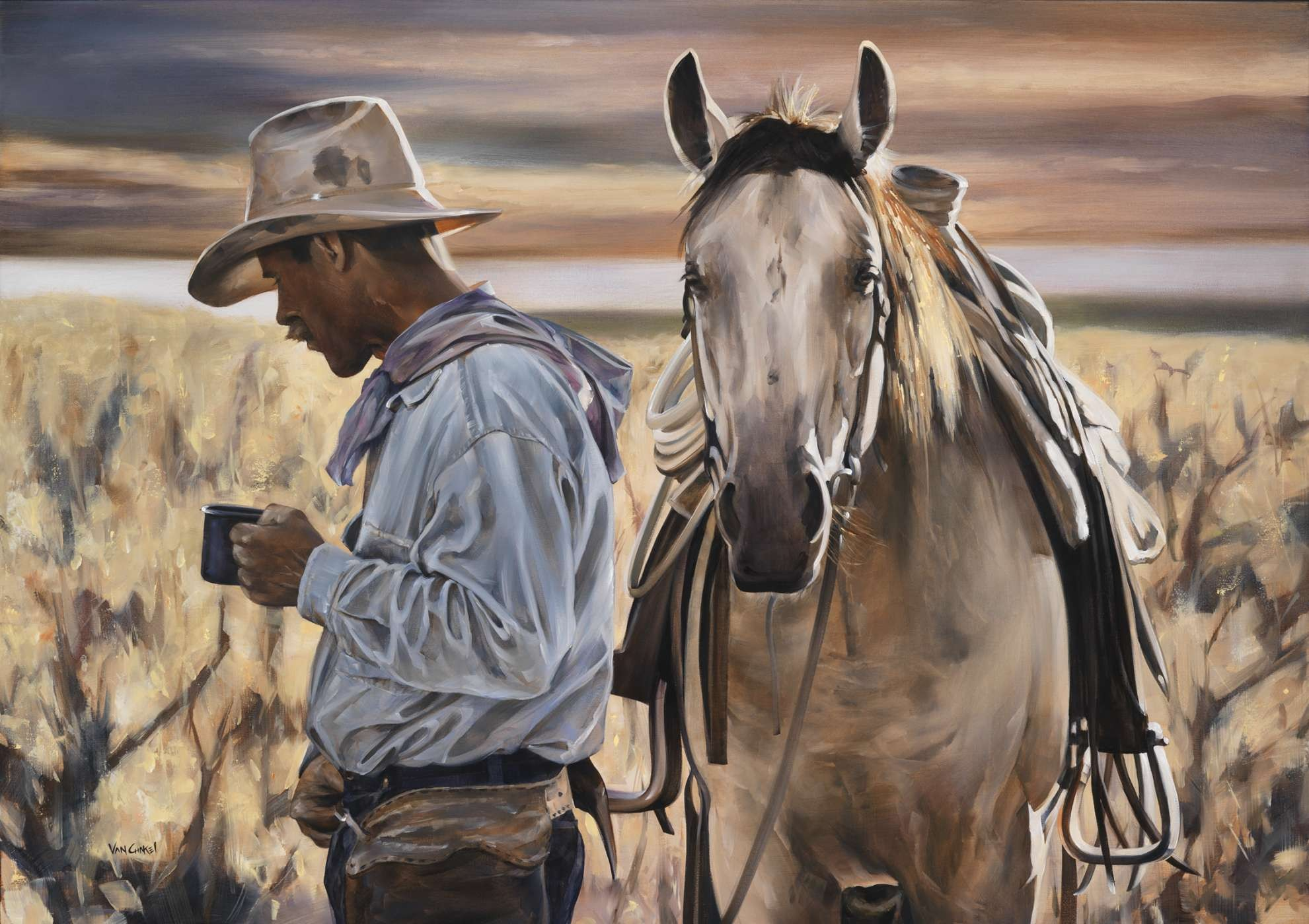 paintings by Calgary artist Paul Van Ginkel