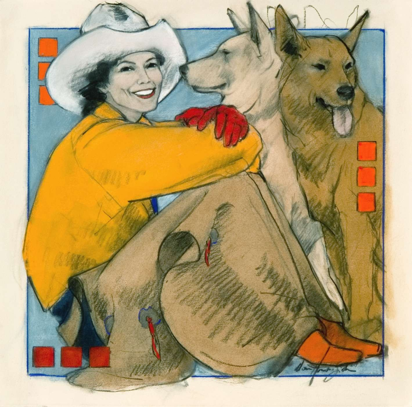 painting by cowgirl artist Donna Howell-Sickles